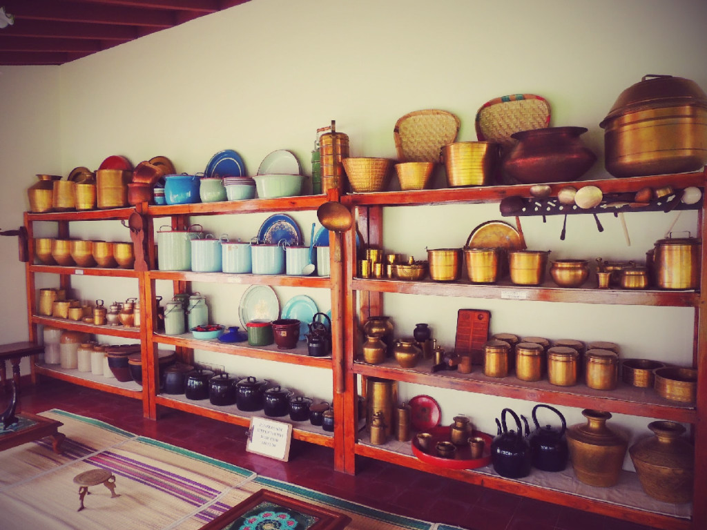 Chettinad Kitchenware in display at The Bangala