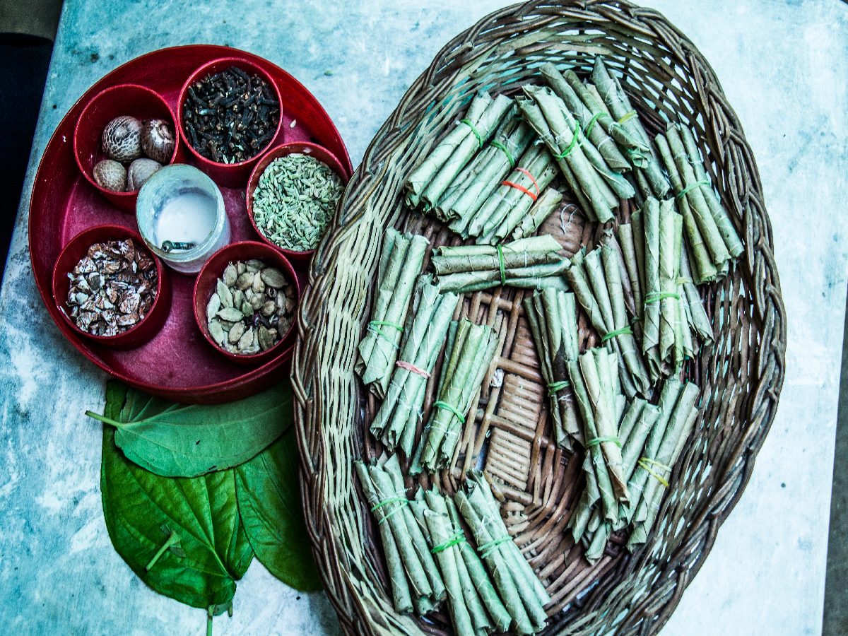 Betel Leaf or Paan Stuffing and Beedi