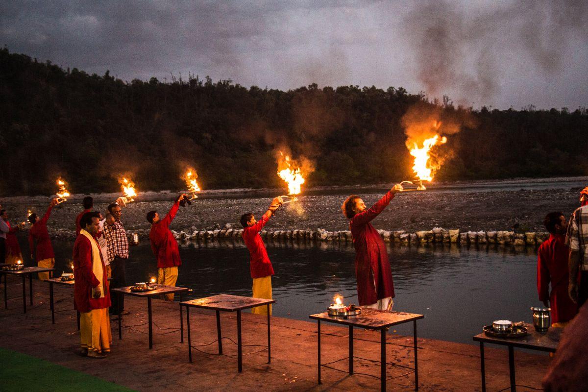 Ganga Aarti at Triveni Ghat Rishikesh