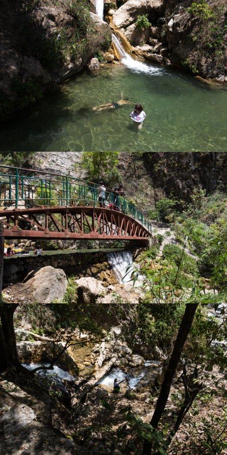 Swimming in Neergud Waterfalls