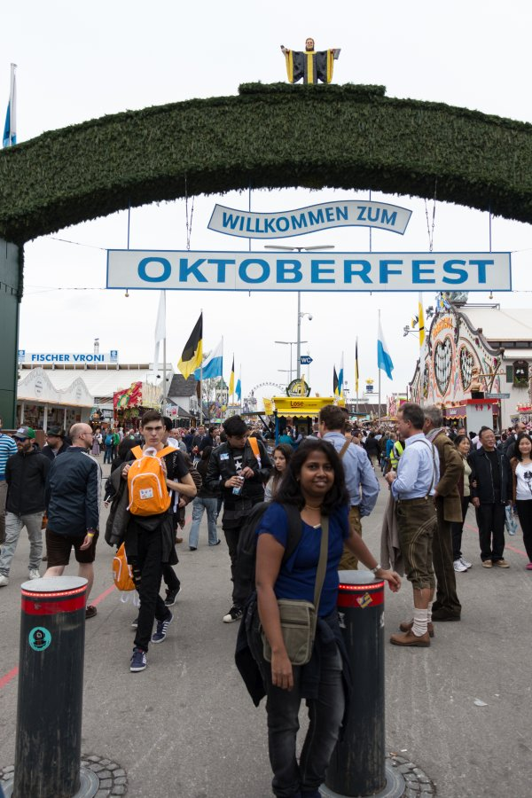 At the Oktoberfest in Munich