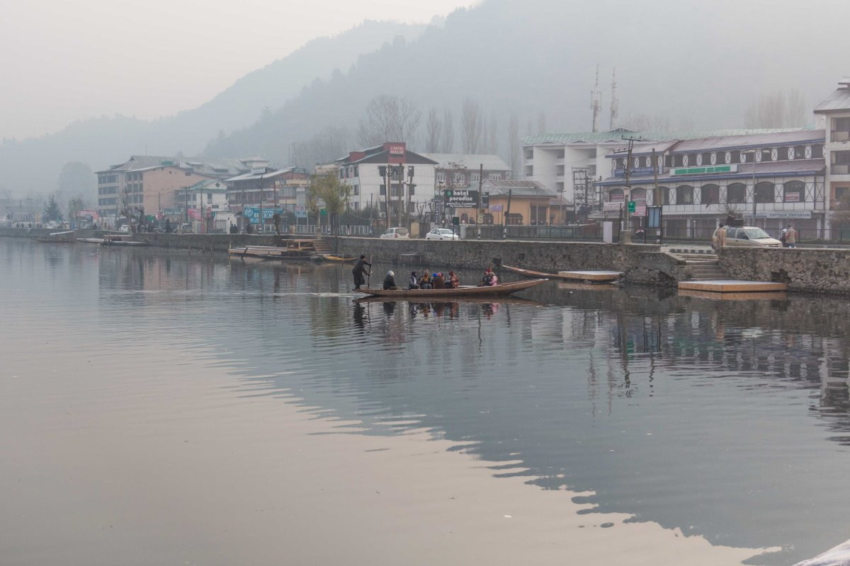 Early morning in the Dal lake