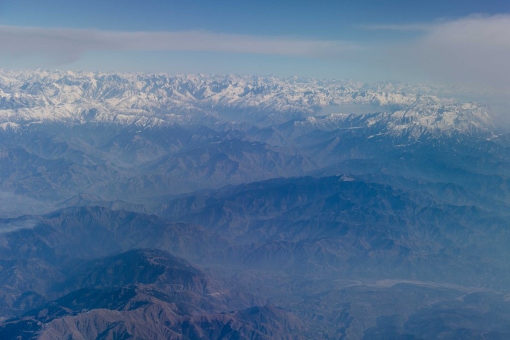 Kashmir from above the sky