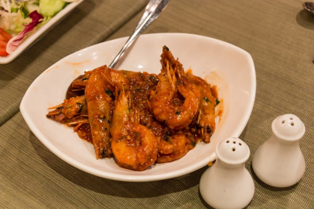 Prawns in Tomato Sauce at Litoral