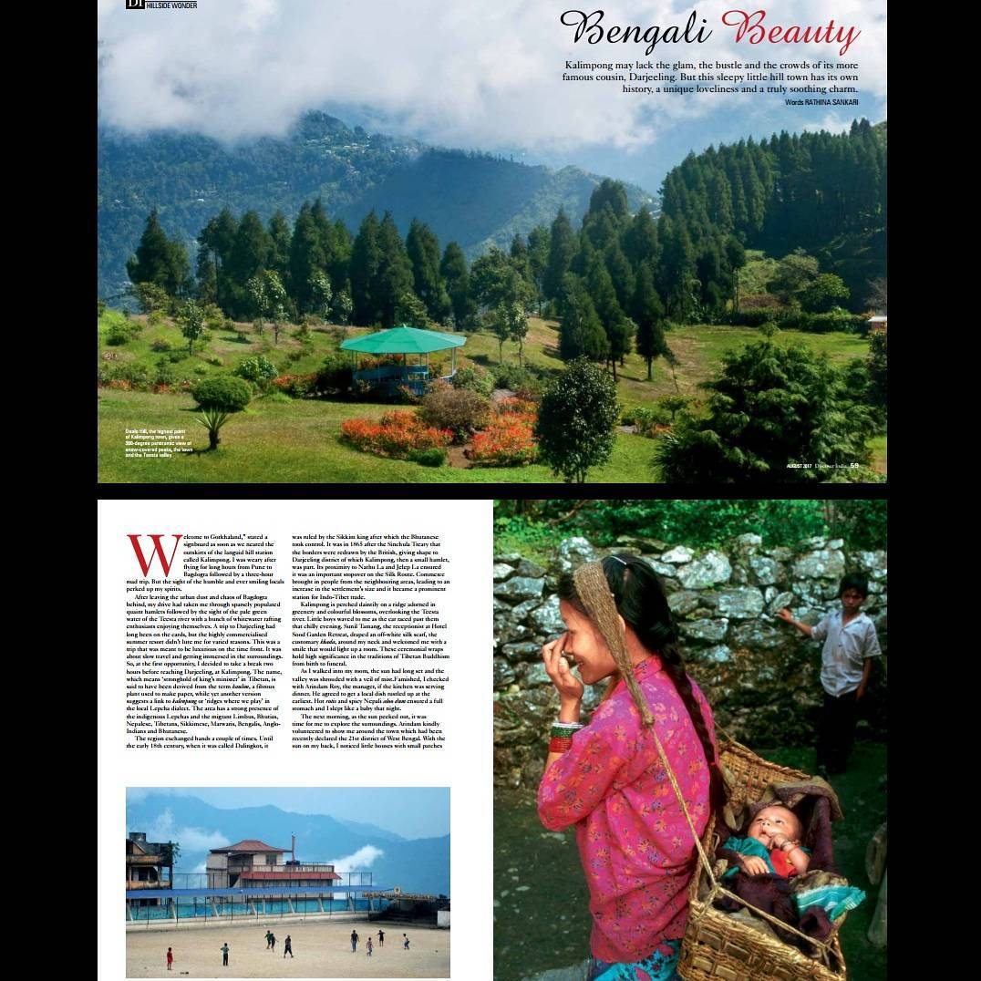 My take on Kalimpong for the Discover India magazine