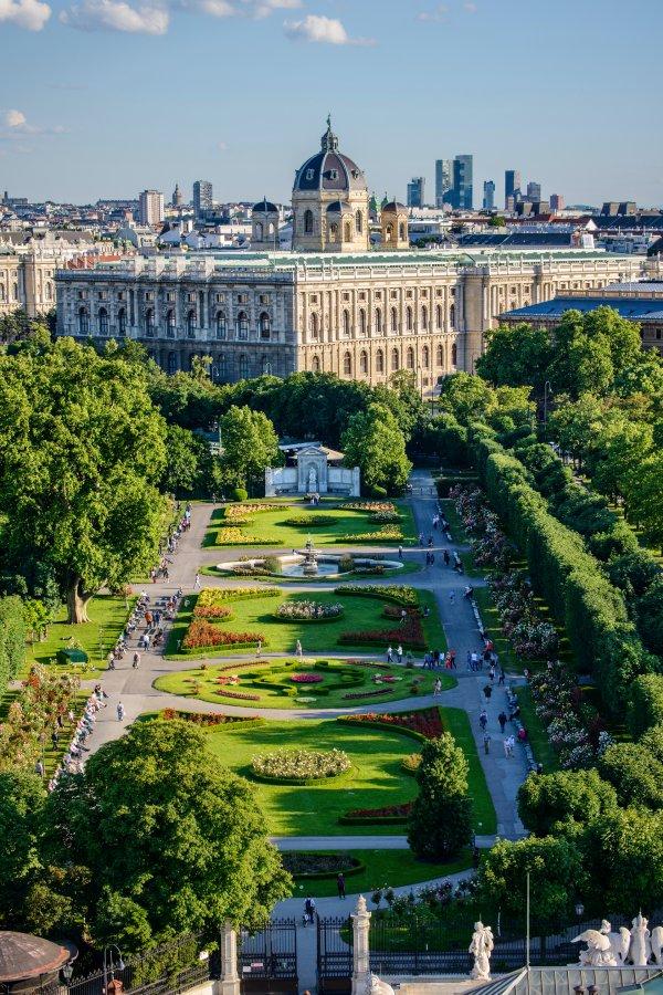 Museum of Natural History beside the city park Volksgarten